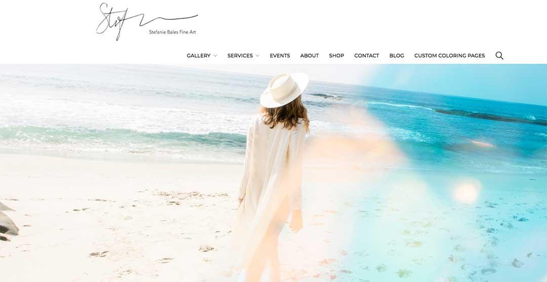 Website update for Stefanie Bales Fine Art by Straight Up Social.